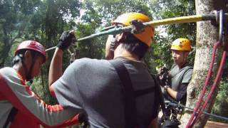Pakxong Laos  City pictures : Top Tree Explorer,Zipping line in pakxong laos by Mit-Udonthani thailand.