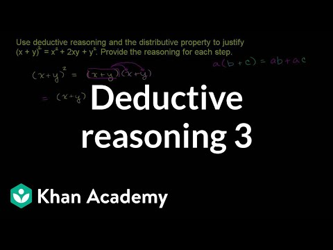 Using Deductive Reasoning Video Khan Academy