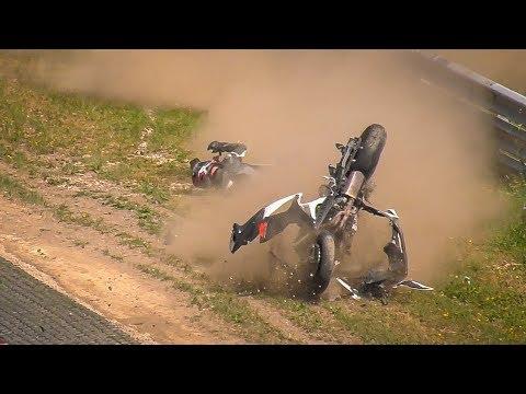 Video Motorbiker Survives Horrible Crash on the Nürburgring Nordschleife download in MP3, 3GP, MP4, WEBM, AVI, FLV January 2017