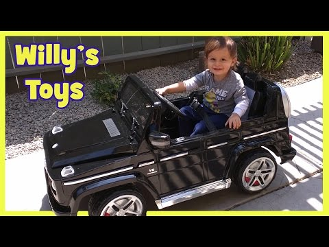 Kid Unboxing Mercedes G Wagon POWER WHEELS Toy | G55 AMG G500 | CUTE | Surprise Box | Willys Toys