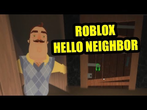 Hello neighbor Roblox FULL GAME (видео)