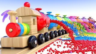 Learn Colors with Preschool Toy Train and Color Balls - Shapes & Colors Collection for Children