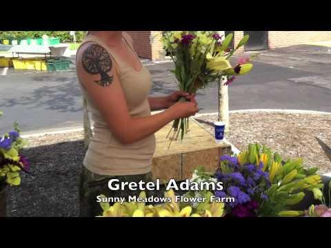 Gretel Adams and Sunny Meadows Flower Farm at Easton Farmers Market Columbus