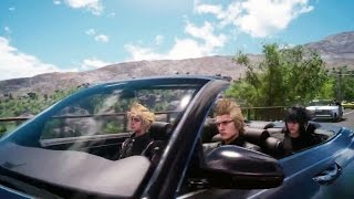 PS4 - Final Fantasy XV Driving Gameplay, Playstation Game, Playstation, video game