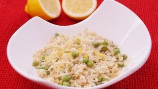 Lemon Rice With Peas Recipe: Easy Side Dish: Diane Kometa: Dishin With Di Recipe #77