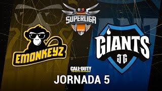 EMONKEYZ VS GIANTS GAMING - #SuperligaOrangeCOD5 - Jornada 5 - T12