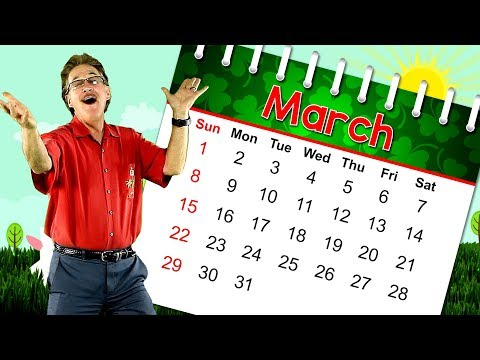 The Month of March | Calendar Song for Kids | Month of the Year Song | Jack Hartmann (видео)