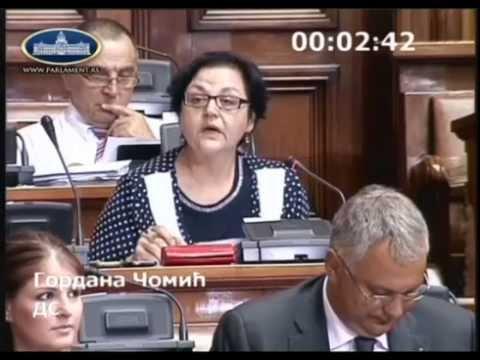 Гордана Чомић: Да ли ће премијер поштовати закон и предложити новог министра финансија?