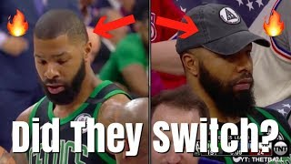 Did the Morris Twins TRADE PLACES in Game 4? | Philadelphia Sixers vs Boston Celtics | NBA Playoffs