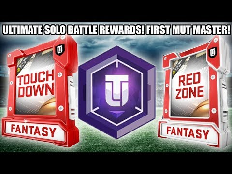 ULTIMATE SOLO BATTLE REWARDS AND MUT MASTER IS NOW POSSIBLE! | MADDEN 19 ULTIMATE TEAM