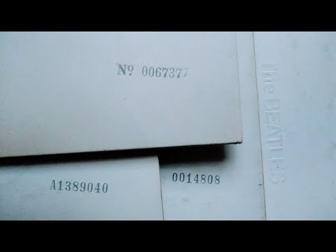 1st Press: The BEATLES White Album Low Number Symbols & Prefixes Explained - U.K./U.S. Vinyl