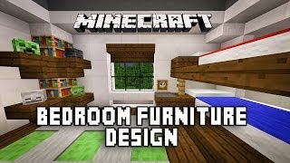 Minecraft Tutorial: How To Make A Modern Bedroom With Bunk Beds  (Modern House Build Ep. 18)