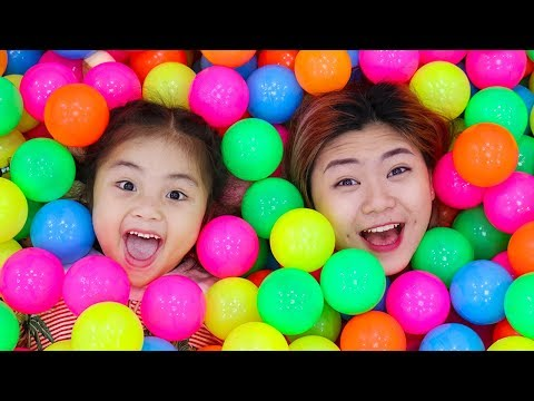 Annie Pretend Play with Magic Wand and Has a Ballpit Party