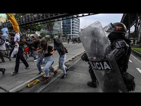 Kolumbien: Tränengas gegen Bildungsdemo in Bogota