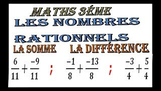 Maths 3ème - Les nombres rationnels Addition et Soustraction Exercice 34