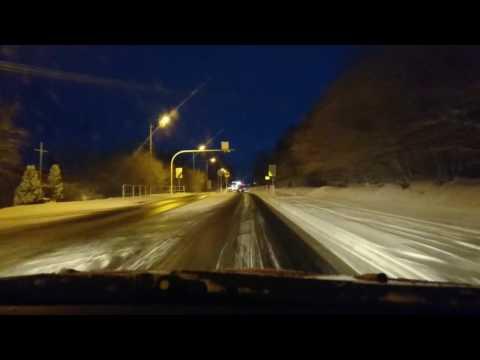 Śnieżyca i trudne warunki na DK43