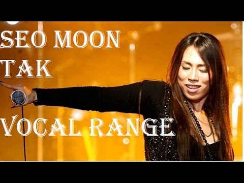 Seo Moon Tak - 서문탁 - Vocal Range (C3 - G#5 - G#5)