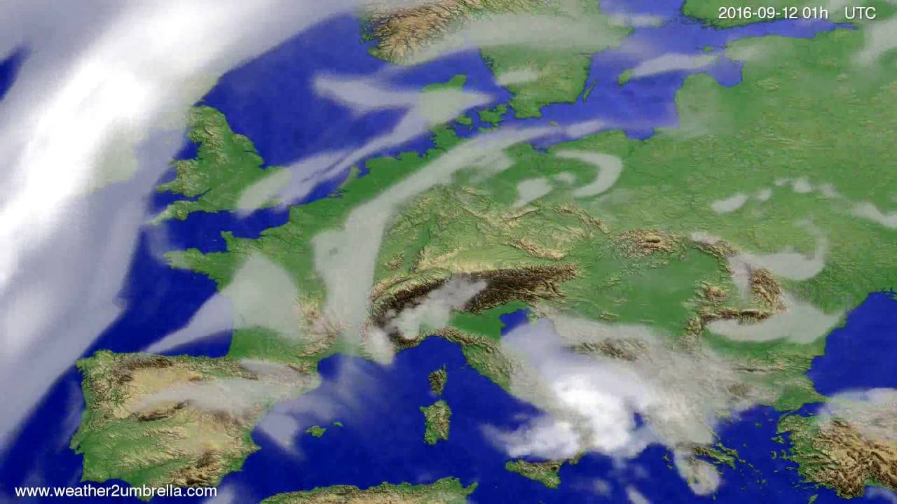 Cloud forecast Europe 2016-09-08