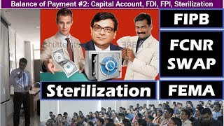 - RBI's sterilization operations.- Impact of demonetization on Rupee exchange rate- Currency swap and FCNR swap. - difference between foreign direct investment (FDI) and foreign portfolio investment (FPI)- What is composite cap in foreign investment?- Foreign investment limits for various category of businesses- e-commerce companies of India: marketplace model and inventory based companies- meaning and provisions for foreign investment limits.- Trends in foreign domestic investment flows in India last 15 years:source-country wise,  sector-wise and state -wise- Recent trends in FDI and FPI inflows.- Budget 2017: decision to abolish FIPB. - Total Balance of Payment, how it changes RBI's foreign exchange reserves?- Exchange rate regimes, forex reserve, yuan undervaluation, currency manipulation- Capital account convertibility and current account convertibility.- Faculty Name: You know who - All Powerpoint available at http://mrunal.org/powerpoint- Exam-Utility: UPSC IAS IPS Civil service exam, Prelims, CSAT, Mains, Staff selection SSC-CGL, IBPS-PO/MT, IBPS-CWE, SBI PO & Clerk, RBI and other banking exams; LIC, EPFO, FCI & other PSU exams; CDS, CAPF and other defense services exams; GPSC, MPPCS, RPSC & other State PCS services exams with Indian Economy, Budget, Banking, Public Finance in its syllabus- with descriptive questions and answer writing.