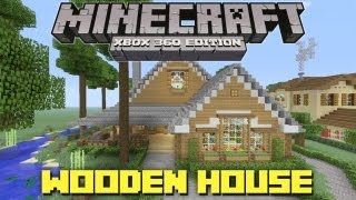 Minecraft Xbox 360: Cool Wooden House + Lake Cottage! (House Tours of Danville Episode 29)