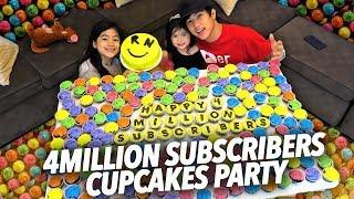 Video 4 MILLION SUBS CUPCAKE PARTY | Ranz and Niana MP3, 3GP, MP4, WEBM, AVI, FLV Oktober 2018