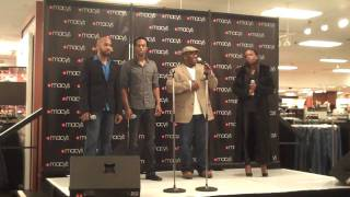 Best of Both Worlds (at the American Repertory Theater) cast performs at Macy's special event