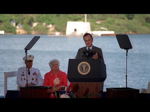 George H.W. Bush -  Pearl Harbor Memorial Speech (Audio Enhanced)