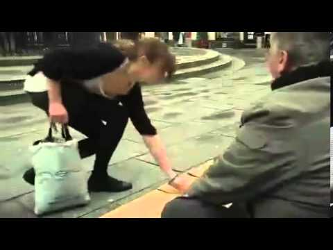Inspirational Video – Woman helps Homeless Man