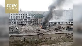 Yulin (Shaanxi) China  city photos : Explosion hits town, killing at least 7 in northwest China's Shaanxi Province