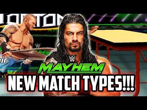 WWE MAYHEM NEW MATCH TYPES! ELIMINATION CHAMBER UPDATE WISHLIST!!!