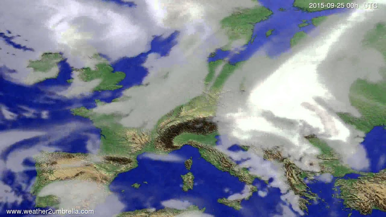 Cloud forecast Europe 2015-09-21