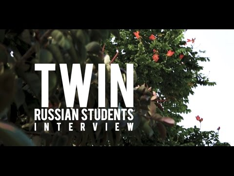 Twin Russian Students