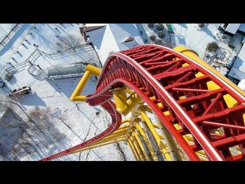Cedar Point Top Thrill Dragster Point Of View (видео)