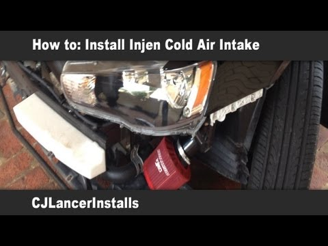 lancer - How to Install a Injen Cold Air Intake. How to take off the bumper - http://youtu.be/FPB4IBel6Hw Intake - http://stores.speedcorps.com/-strse-293/Injen-Cold-...