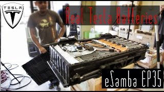 DIY 18650 vs Real Tesla Lithium Batteries  VW BUS eSamba EV