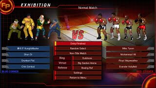 Drunken Fist Master vs Boxer Fire Pro Wrestling World