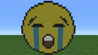 Minecraft Tutorial: How To Make A Crying Emoji