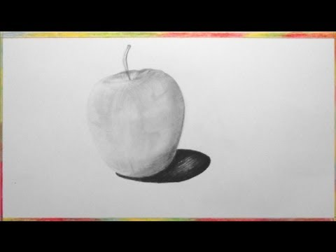 Apfel, zeichnen im Zeitraffer (Apple, drawing in fast motion)[HD]