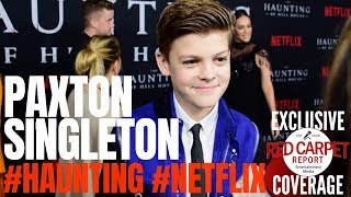Paxton Singleton interviewed at #Netflix's The #Haunting of Hill House S1 Premiere Event