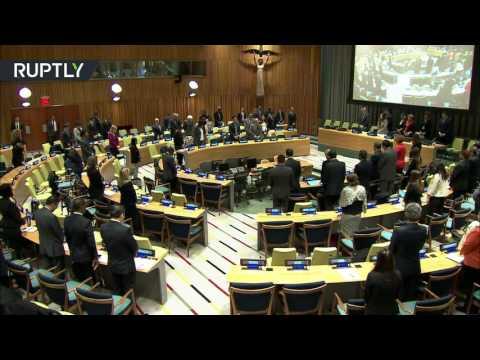 Заседание в ООН началось с минуты молчания в память о Чуркине - DomaVideo.Ru