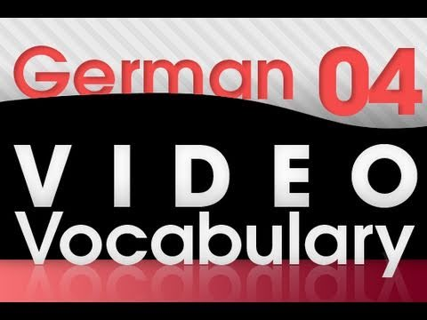 Learn German – Video Vocabulary #4