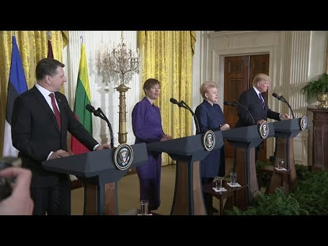 Opening Press Remarks by President Trump, Baltic States Heads of Government