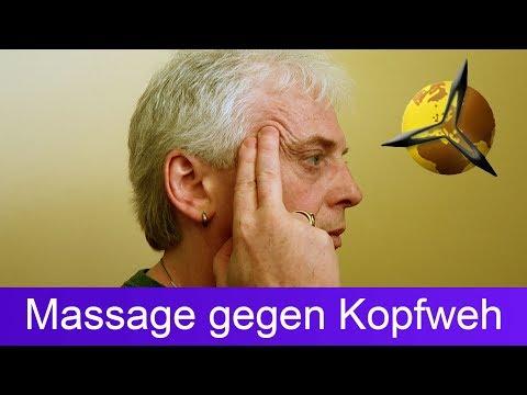 Akupressur: Massage gegen Kopfweh und Migräne