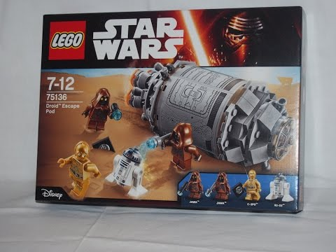 Vidéo LEGO Star Wars 75136 : La fuite des droïdes en pod