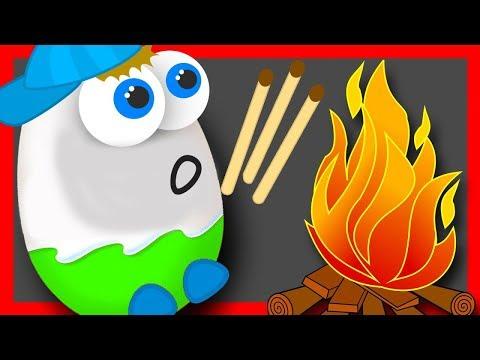 Мультики. Киндер Сюрприз. СПИЧКИ ДЕТЯМ НЕ ИГРУШКИ. Мультик для детей. Surprise Eggs Toys (видео)