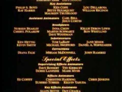 End credits ; Beauty and the Beast (english)