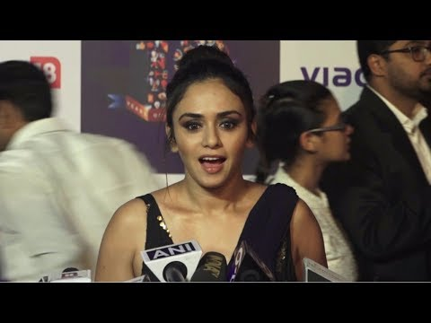 Amruta Khanvilkar At The Red Carpet Of 'Viacom 18' 10 Years Anniversary
