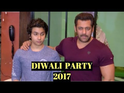 Salman Khan At Arpita Khan's Diwali Party 2017
