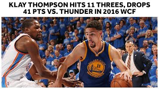 Every Three Pointer From Klay Thompson's Historic 11 Triples vs. Thunder In Game 6 Of 2016 WCF by Bleacher Report