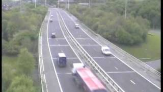 7. **ORIGINAL** Truck blind spot accident caught on police camera Motorway M621 (M62 Crash Leeds UK)